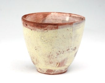 Cup with White Eroded Surface