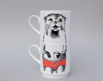 Mr Otter Stackable Tea Mugs