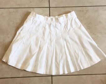 Vintage Wilson Tennis Skirt / White Pleated Skirt 12