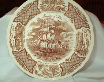 Friendship O Salem Fair Winds Copper Engraving Historical Plate.