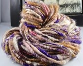 Handspun Art Yarn Corespun Fleecespun  Sheeping Beauties 'Forest Violets'