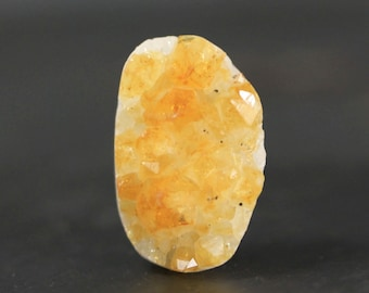 Golden Citrine Crystal Druzy Rough Pendant, Collectors Stone Gift Idea for Rock Lovers - Raw Gold, Natural Crystals, November (11000)
