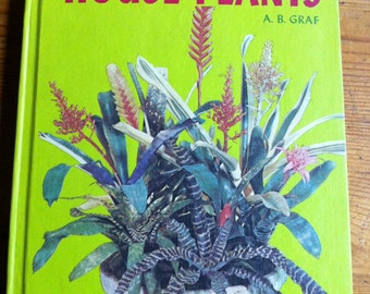 1976 Exotic Houseplants A. B. Graf hardcover book 1200 illustrations- sale