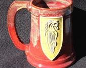 Rohan inspired medallion, Barliman shaped mug, 16 ounces