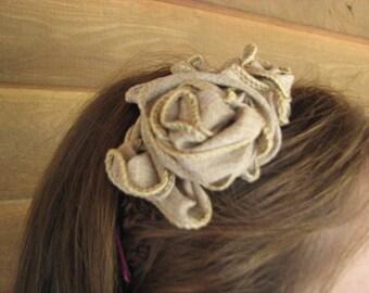 Burlap Blossom Headband