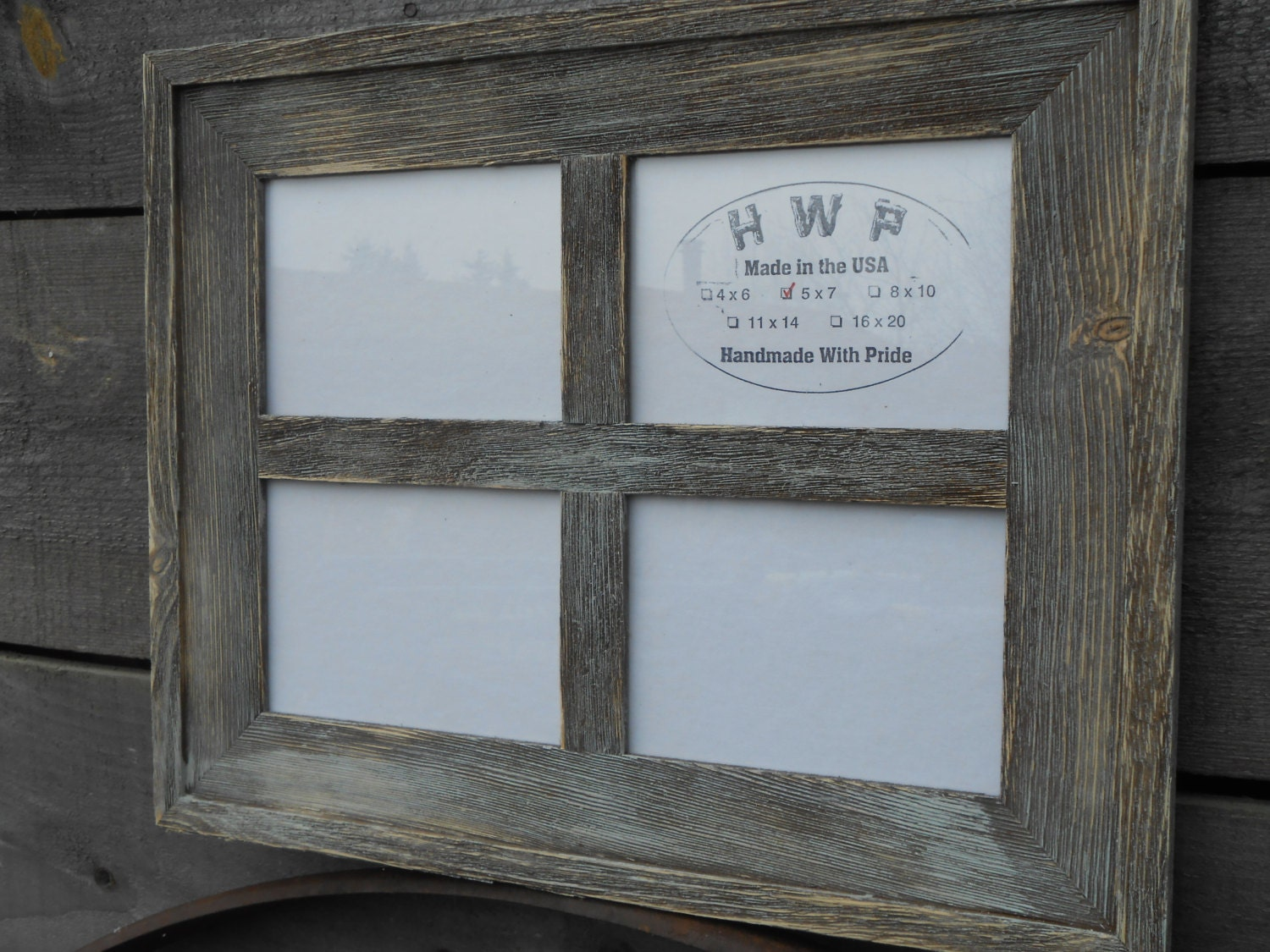 Rustic Barn Board Window Frame Handmade Handcrafted Barn