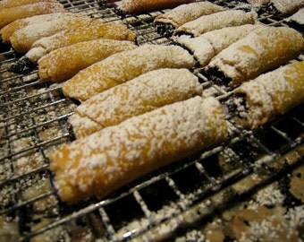 Hungarian Nut Fruit Roll Cookies, Kifli, Baked Goods, Kifle, Apricot, Walnut, Kiffles, Slovakian, Edible Gift, Slovak, 2 DOZEN