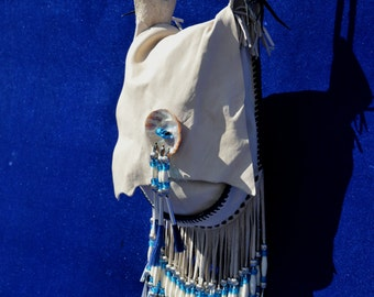 Vintage handmade cowboy bag with fringes native american southwester by thekaliman