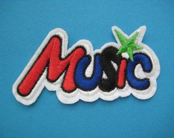 Iron-on embroidered Patch Music 3.75 inch