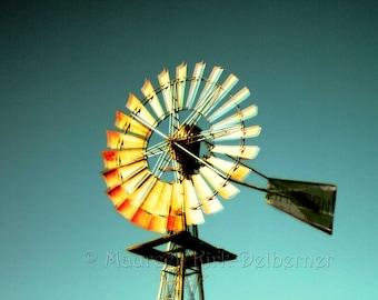 Windmill, home decor, large print, 20 x 20, 10 x 10, ranch windmill, photo, southwestern decor, western decor, country decor, farm, FastWinn