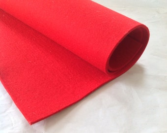 WOOL FELT - Red (803) - 3mm thick