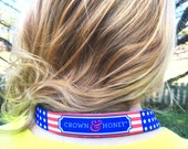 USA Crown & Honey Sunglass Strap  Stars and Stripes Sunglass Strap sunglasses Strap Holder Democrat Republican Sunglass Strap