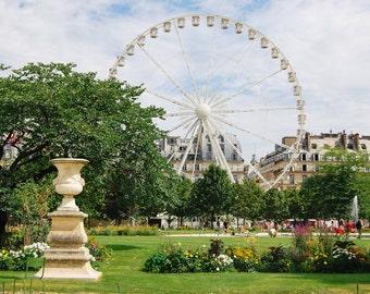 Fun Fair in the Tuileries Garden During Summer  - Paris, France Travel Fine Art Photography Print