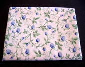 Vintage Reclaimed Sheet Fat Quarter Laura Ashley Bramble Berry on Pure White