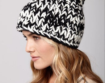 Knitting Pattern Beanie Hat  Instant Download Knitting Hat Knitted Winter Hat