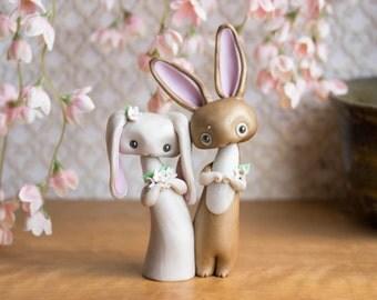 Bunny Rabbit Wedding Cake Topper by Bonjour Poupette