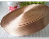 """5 yards of nylon webbing 2cm(7/8"""")1 inch(1""""),1.25 inch(1-1/4""""),1.5 inch(1-1/2""""),2 inch(2"""") bag strap purse handbag strap beige"""