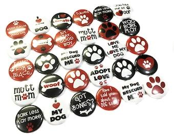 "Rescue Dog Magnet, 1"" Button Magnet, Adopt a Dog, Mutt Magnet, I Love My Dog Magnet, Dog Party Favor, Dog Button, Dog Magnet, Dog Theme, Dog"