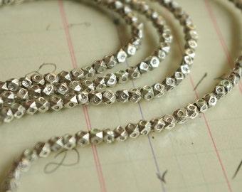 10PCS of 990 handmade silver - Embossed edge bead