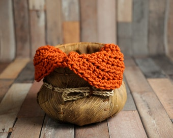 Chunky Pumpkin Orange Baby Blanket Newborn Photography Prop