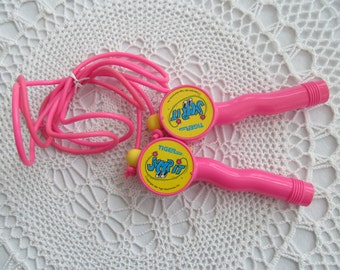 Vintage Jump Rope Tiger Toys Jump It with Counter Pink 1990s