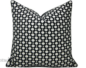 Schumacher Pillow Cover - Betwixt - 19X19 - Black and White - ready to ship