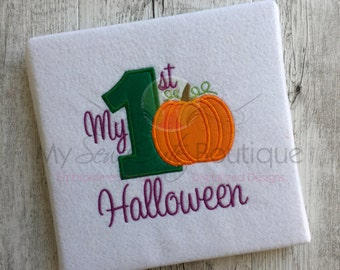 My First Halloween Applique Designs Machine Fall Embroidery - Applique Downloads - Holiday Appliques - 8 Sizes - Instant Download