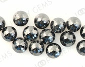 Black Diamond Rose Cut Cabochon 3mm Round KITE FACETS - 1 cab, RCKDIABR3