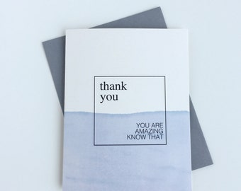 Thank You Card | Inspirational Quote~ Watercolor