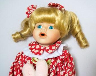 Vintage Baby Girl Porcelain Doll