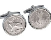 Perfect 50th birthday gift Genuine 1966 Coin cufflinks 100% satisfaction guaranty