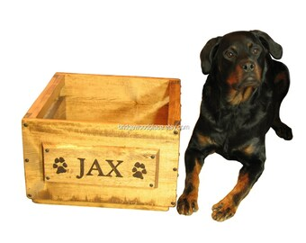Dog Toy Box, Pet Toy Box, Personalized Canine Toy Box, Engraved Puppy Toy Box, Pooch Toy Box, Doggy Toy Storage, Engraving Included in Price