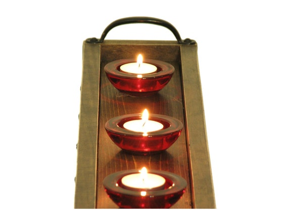 Candle tray long narrow table centerpiece mantle