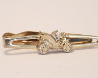 Vintage classic car tie clip.  Small tie clip
