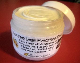 Facial Moisturizing Cream, No added Essential oils, Added Hempseed oil, Rosehip seed oil, Unrefined Coconut oil, Mature skin, Youthful skin