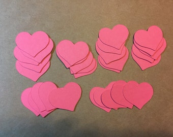 "30 - 1""  Heart Die Cuts - pick your color"