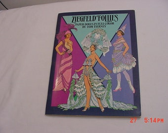 Vintage 1985 Ziegfeld Follies Paper Dolls In Full Color By Tom Tierney    16 - 112