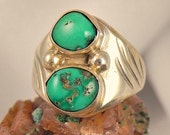 Vintage Turquoise Mens ring by Ray Lovato