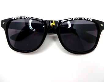 The Boy Who Lived- Black Harry Potter Themed Wayfarer Sunglasses