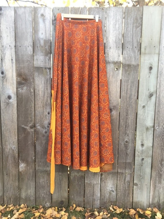 Retro heavyweight wrap skirt, one size fits most
