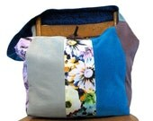 CROSSBODY HOBO BAG - Crossbody Bag - Patchwork Bag - Handmade Bag - Slouchy Hobo Bag - Blue Bag - Hippie Bag - Hobo Purse - Sling Bag