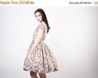 SALE 65% OFF ends 02/16 Vintage 50s Dress - 1950s Dress - The Prettiest of Views Dress  - 5024