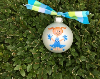 Cheerleader Ornament - Cheer Coach Gift, Cheerleading Gift, Personalized Ornament, Hand Painted Christmas Bauble, Cheer Mom