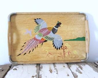 Vintage Pheasant Serving Tray *SALE*