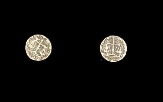 Sterling Silver Zodiac Earrings Libra