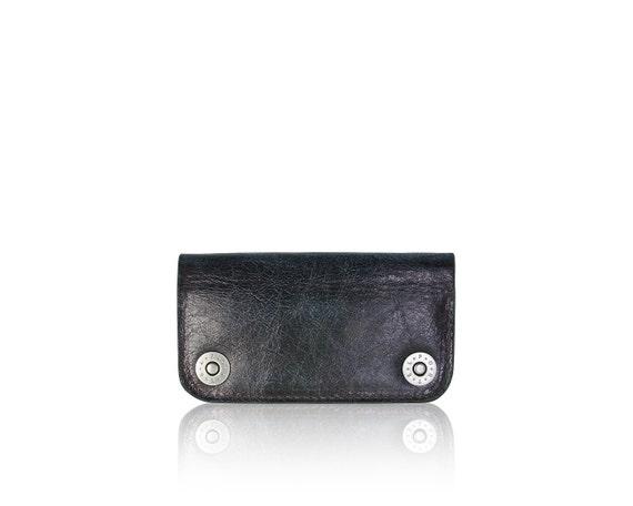 iPhone 5 RETROMODERN aged leather wallet - - BLACKMARINE