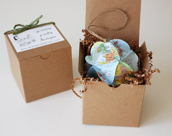 Custom Map Ornament // You Choose the Locations  // Handmade from vintage atlases // Holiday Gift