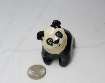 Giant Panda Miniature - Panda Figurine - Panda Terrarium Figurine - Miniature Terrarium Figurine - Zoo Animal - Panda Baby Baby - Panda Cub