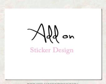 Sticker Design, With Your Implemented Logo - Sticker - Graphic Sticker - Printable - Digital Sticker