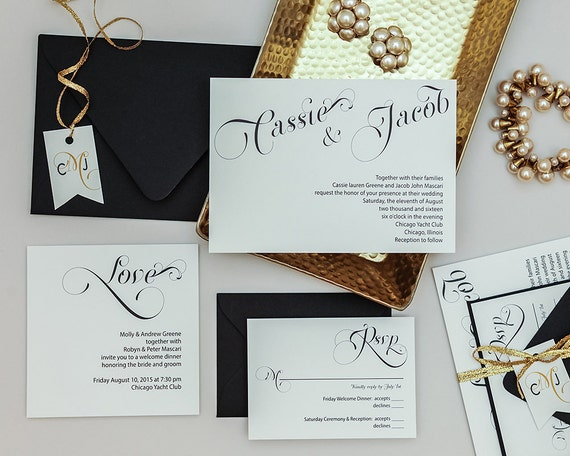 Cost Of Calligraphy For Wedding Invitations: Modern Vintage Wedding Invitation TemplateRomantic